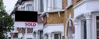 Sold sign outside London apartment