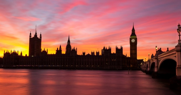 Big ben london sunset