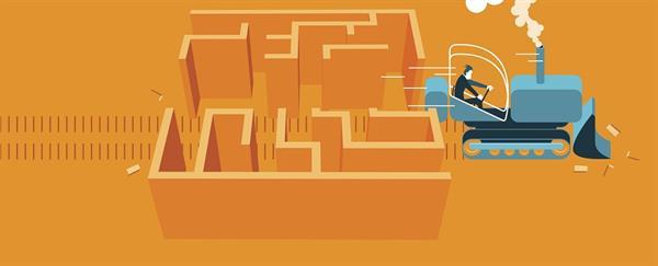 bulldozer through maze