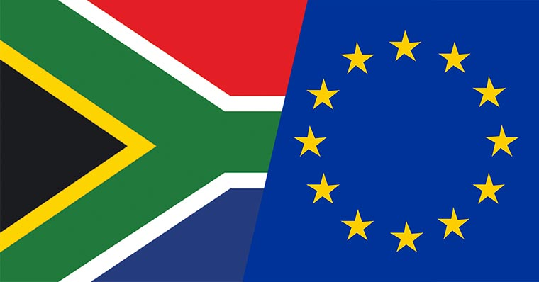 EU and SA flag
