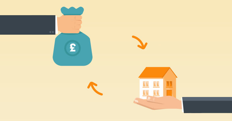 Money for house illustration