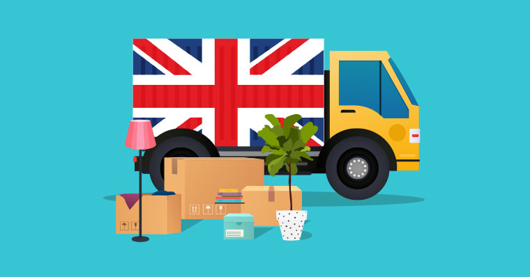 moving truck uk flag