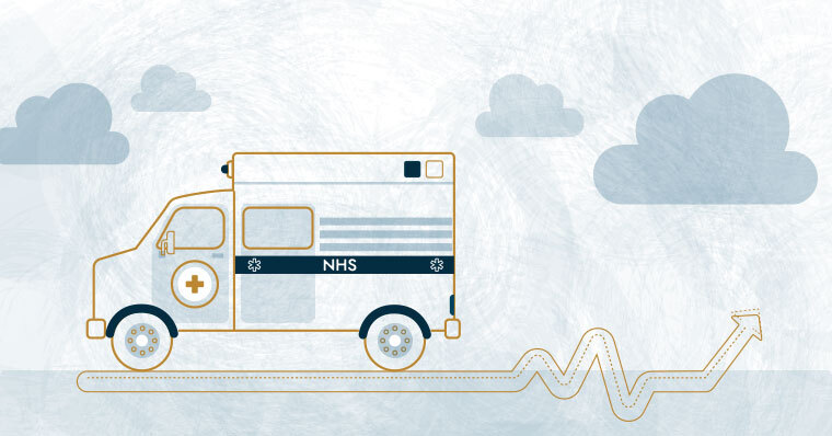 NHS ambulance illustration