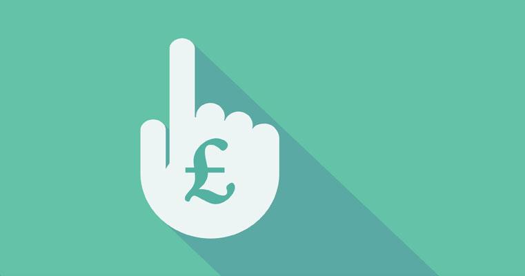 Pound symbol on a hand icon