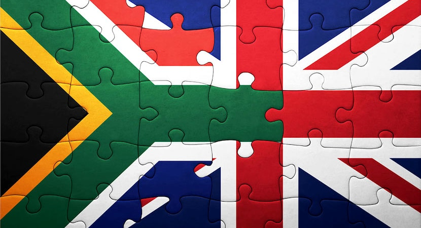 South Africa-UK Puzzle flag