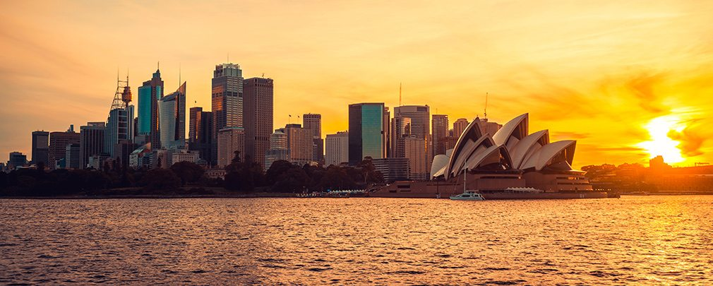 Sydney cityscape from across the bay