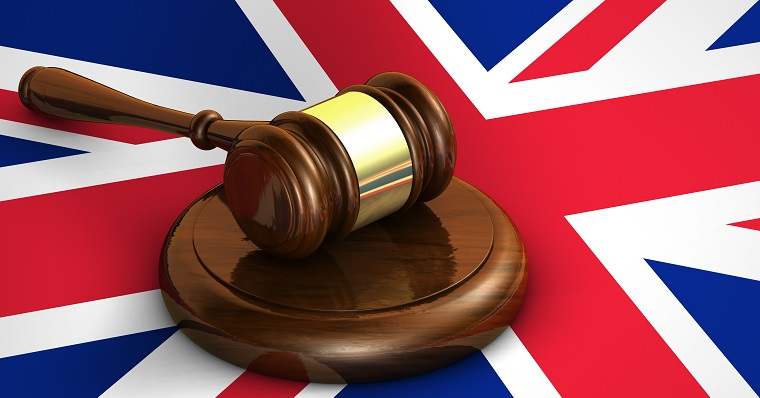 uk flag and gavel
