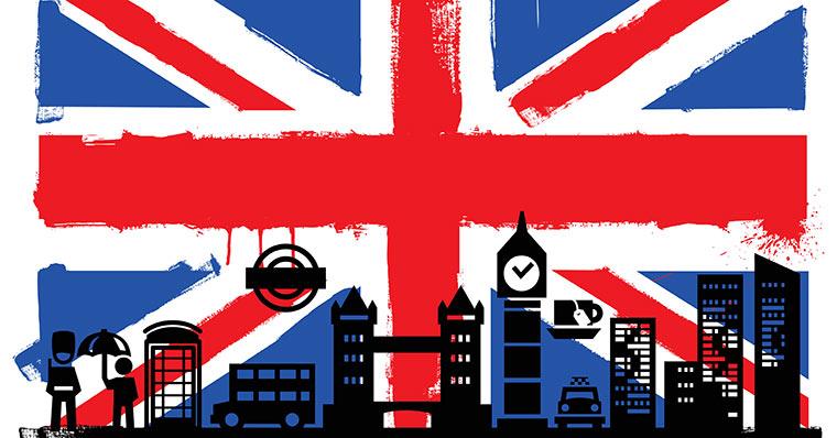 UK flag silhouette