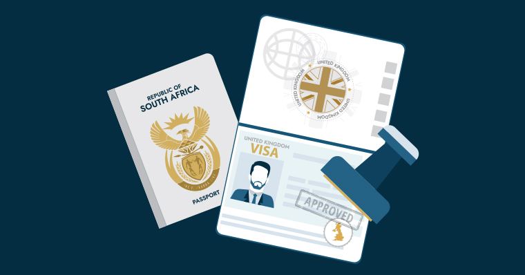 South African passport and UK visa