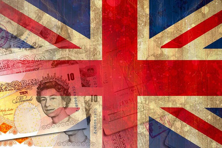 Union jack and pounds