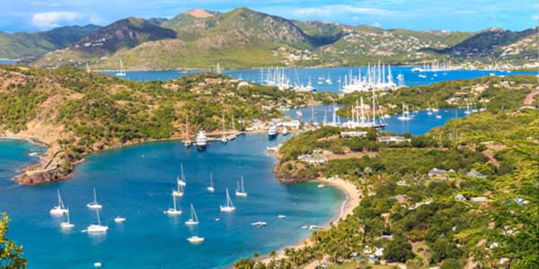 Aerial view of Antigua Bay