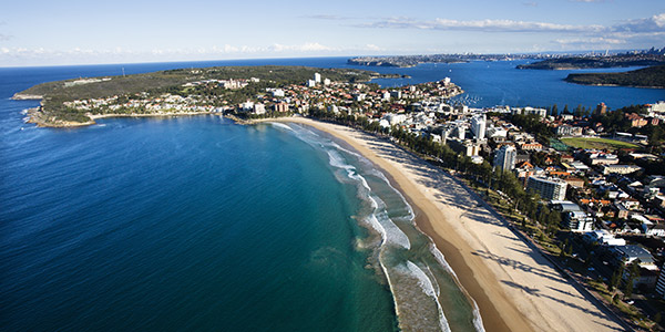 Australia's world-famous beaches