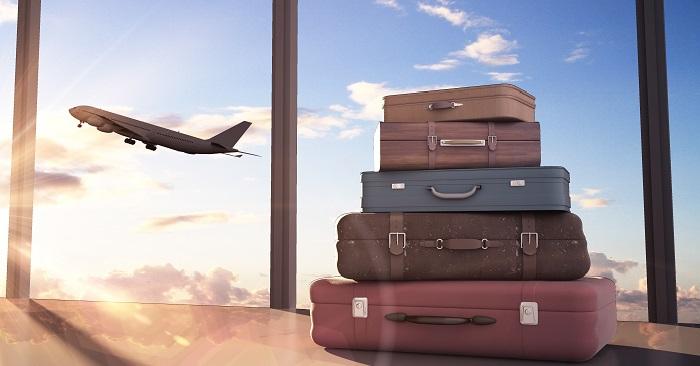 Plane departing airport