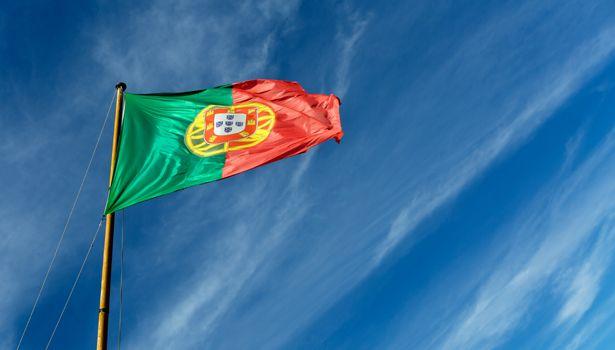 Portugese flag on pole