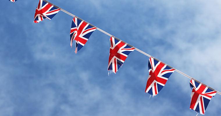 Union Jack on banner