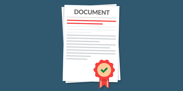 Documents with merit badge